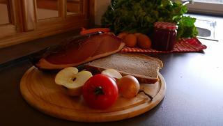 Dieses zünftige Vesper können Sie in der vollausgestatteten Küche zubereiten