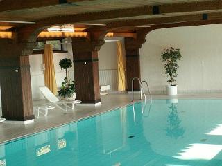 Schwimmbad mit Liegen zur Entspannung in der Wohnanlage - Und noch ein Blick in's schöne Schwimmbad.