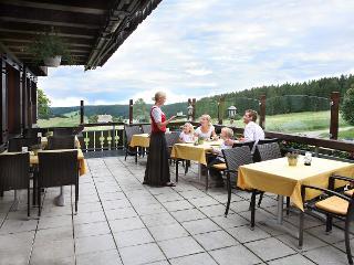 Die Terasse des Cafes, mit einem tollen Blick über den Schwarzwald