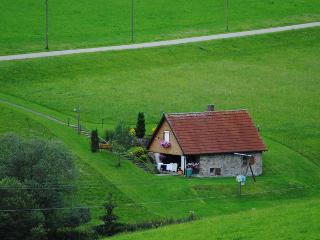 Blick auf die ehemalige Mühle
