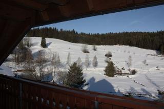 """Ausblick vom Balkon der Wohnung """"Bergidylle"""""""
