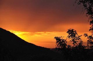 Sonnenuntergang - Aussicht Terrasse