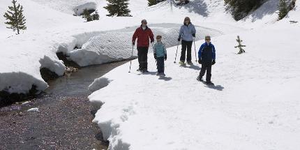 Schneeschuhwanderung: Für Familien mit Kindern