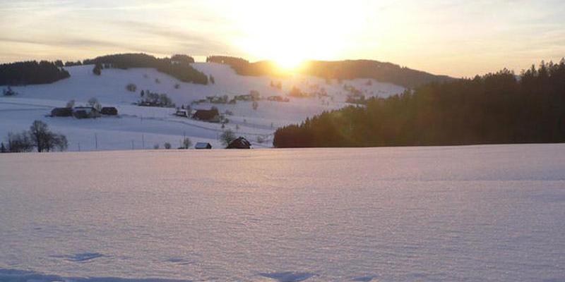 Schneeschuhwanderung: Sonnenaufgang in Breitnau
