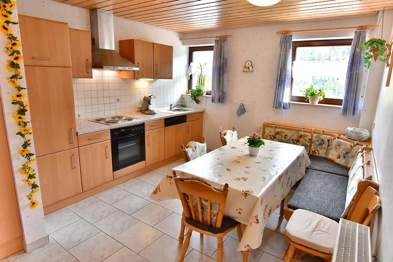 Wohnküche Ferienwohnung 1 Panoramablick bis zu 8 Personen