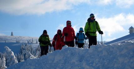 Schneeschuhwanderung: Halbtagestour über den Baldenweger Buck