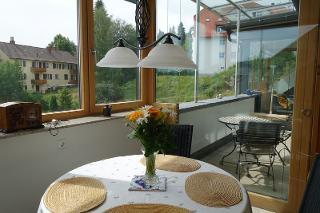 Aussicht vom Essbereich in der Küche