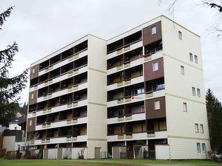 Blick zum Appartement