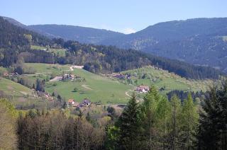 Blick auf den Ferienhof und das Grimmerswaldtal