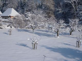 winterliche Aussicht vom Studio