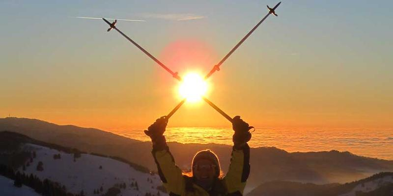 Schneeschuhwanderung: Zum Sonnenuntergang auf dem Schauinsland