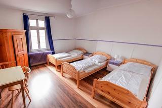 Schlafraum im Gruppenhaus Barbarossa