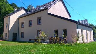 Hintere Terrasse des Eifel Landhaus Enztal