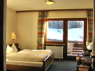 Balkon Zimmer Südseite Winter