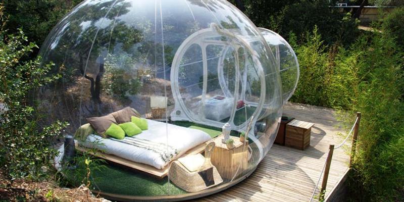 Himmelbett  Schlafen im Himmelbett - das Thurgauer Bubble-Hotel | Original ...
