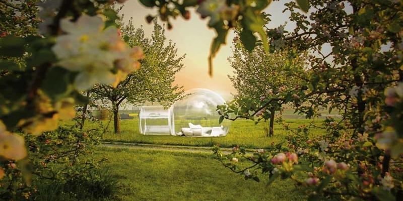 Schlafen im Himmelbett - das Thurgauer Bubble-Hotel