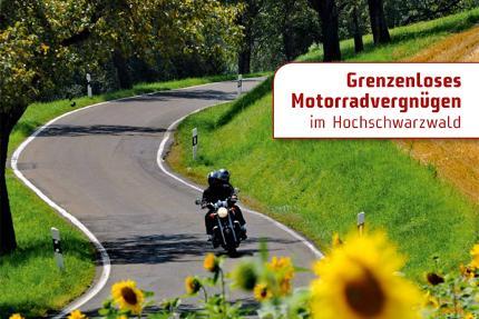 Grenzenloses Motorradvergnügen im Hochschwarzwald