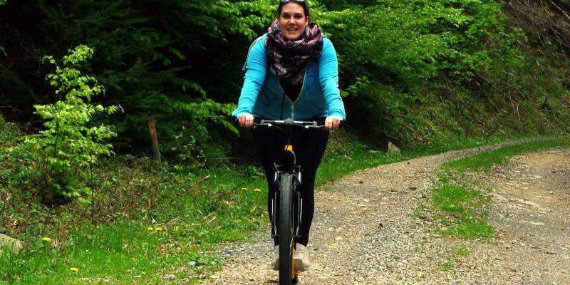 Tret-Roller-Tour: Bergab zum Café Glückauf