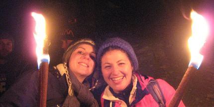 Schneeschuhwanderung: Fackelwanderung mit Fleischfondue im Panoramarestaurant