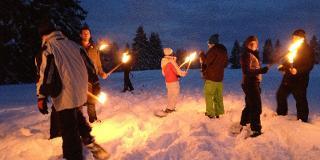 Schneeschuhwanderung mit Fleischfondue / Urheber: Original Landreisen AG / Rechteinhaber: © Original Landreisen AG