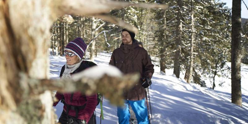 Schneeschuhwanderung: Leichte Wälder-Runde mit rustikaler Einkehr