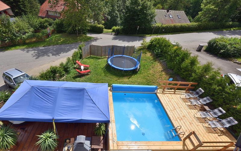 Garten, Pool, Liegewiese, Pavilion