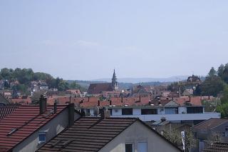 Blick aus dem Appartement über die Tübinger Altstadt
