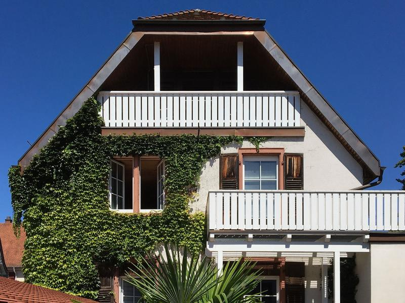 Balkonansicht Haus