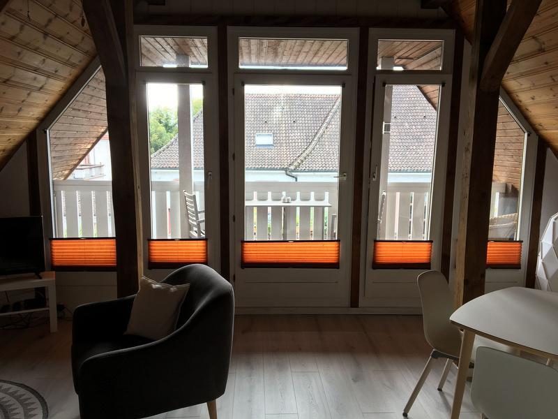 Fensterfront zum Balkon
