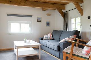 Wohnzimmer (1. OG) mit Schlafcouch