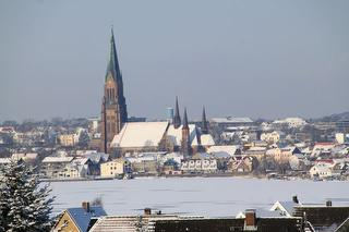 Ausblick aud Schleswig im Schnee
