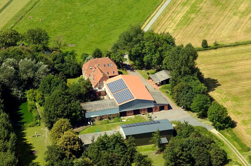 Der Hof aus der Luft