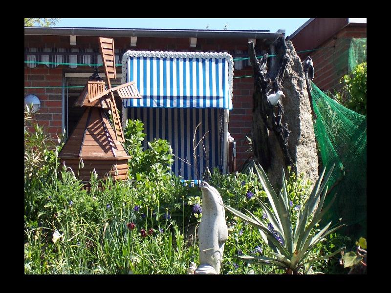 Garten und Strandkorb