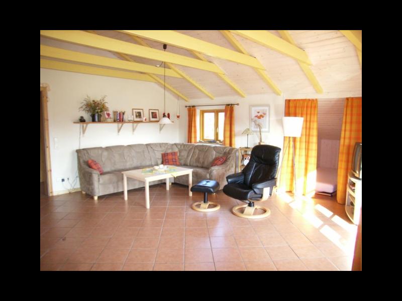 Wohnzimmer Holzhaus