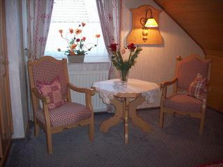 Sitzecke im Doppelzimmer
