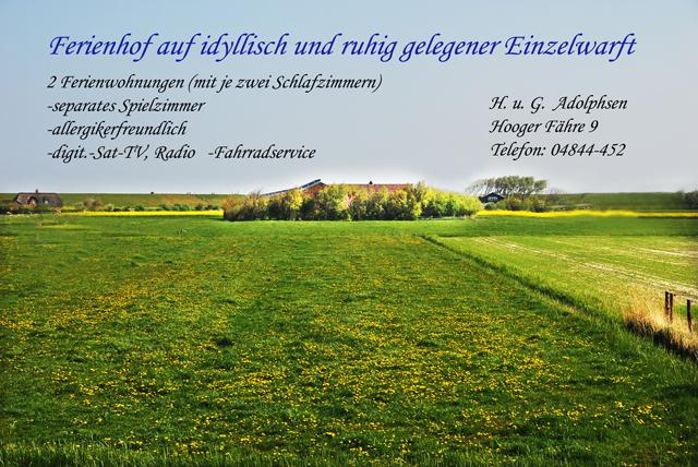 Ferienhof Gretchen Adolphsen Pellworm Fewo Nord