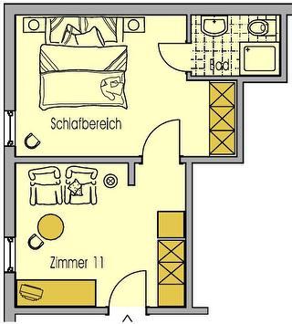 Grundriss Zimmer Sauerland