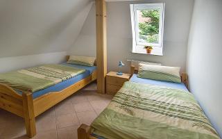 Schlafzimmer mit 2 Einzelbetten, Ferienwohng. H.H. Ingwersen
