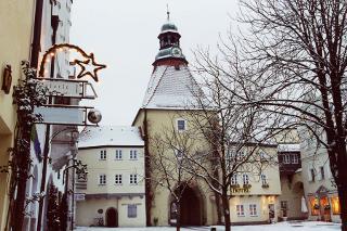 Ansicht vom Marktplatz im Winter
