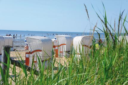 Strandkorb in Feld 6