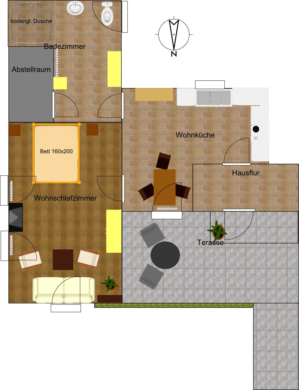 Ferienwohnung Hesselstudio, (Warendorf-Milte). Appartement, 42 qm , 1-3 Pers. (1061623), Warendorf, Münsterland, Nordrhein-Westfalen, Deutschland, Bild 6