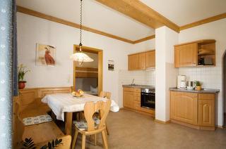 Wohnküche Ferienwohnung Kuhstall