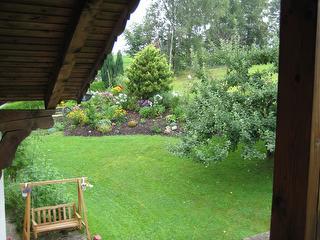 Aussicht auf den Garten