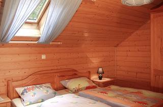Schlafzimmer mit Dachfenster