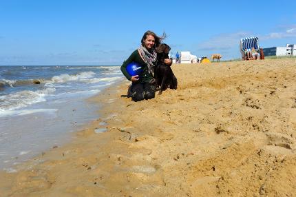 Strandkorb am Hundesandstrand