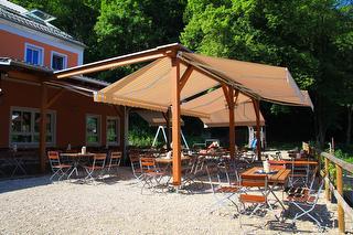 Landgasthof Waldfrieden Bad Abbach - Terrasse / Urheber: Bruno Samulowski - www.orange-b.de
