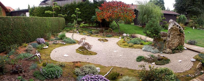 Gartenansicht vom Balkon Ferienwohnung Nr. 3