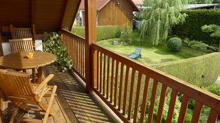 Blick vom Balkon/Gartenansicht