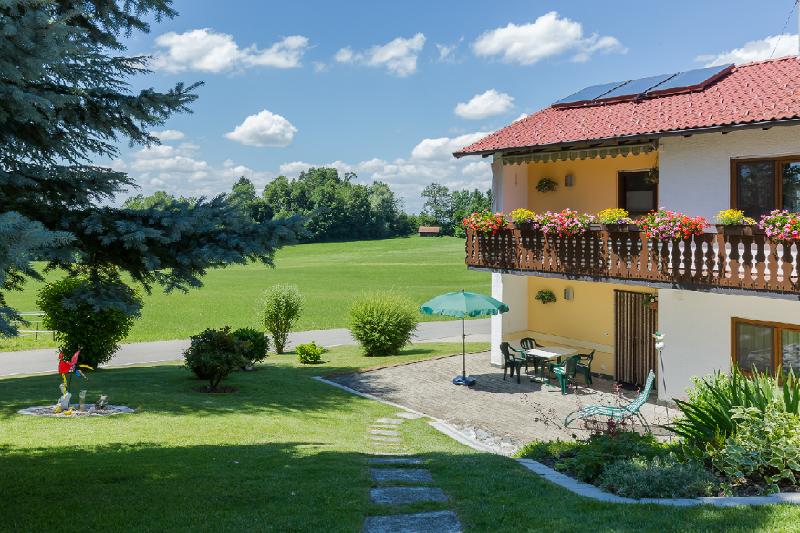 Terrasse, Ferienwohnung Familie Klink, Grünkraut