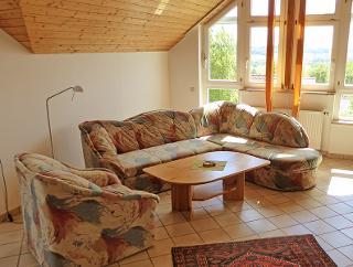 Wohnzimmer - Couchgarnitur, Haus Sonntag, Ferienwohnung